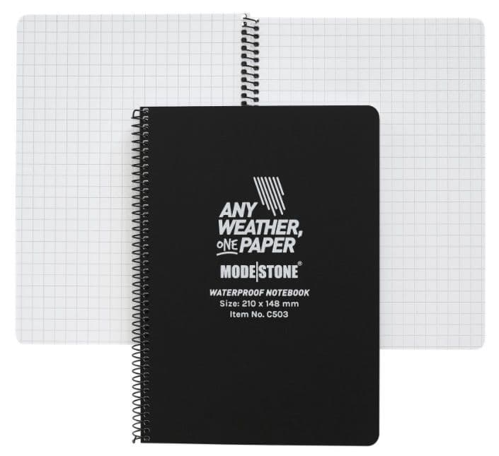 Modestone A5 Waterproof Notebook - Side Spiral - 210x148 mm (50 Sheets/100 Pages)