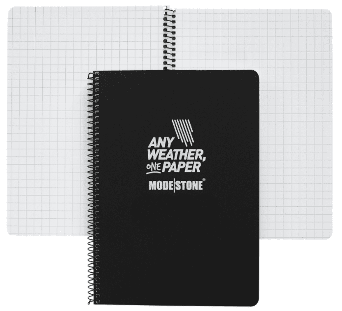 Modestone A6 Waterproof Notebook - Side Spiral - 145x105 mm (30 Sheets/60 Pages)