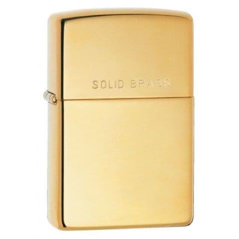 Personalised Engraved Classic High Polish Brass Zippo