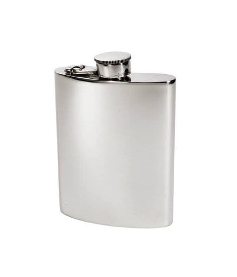 Pewter Kidney Hip Flask with Hinged Captive Top - 6oz