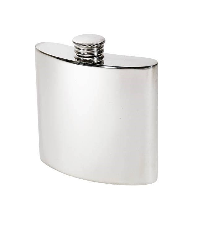 Pewter Kidney Hip Flask with Screw Top - 4oz