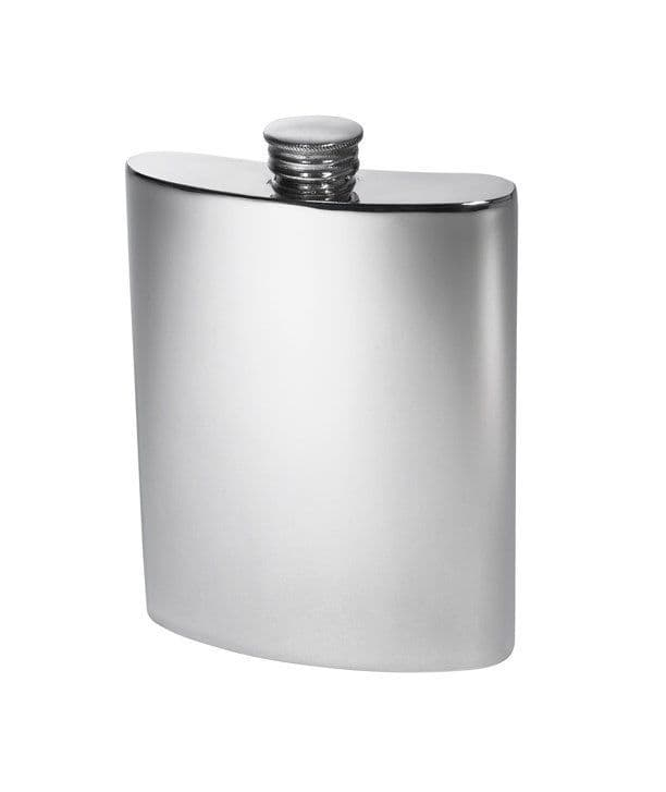 Pewter Kidney Hip Flask with Screw Top - 6oz