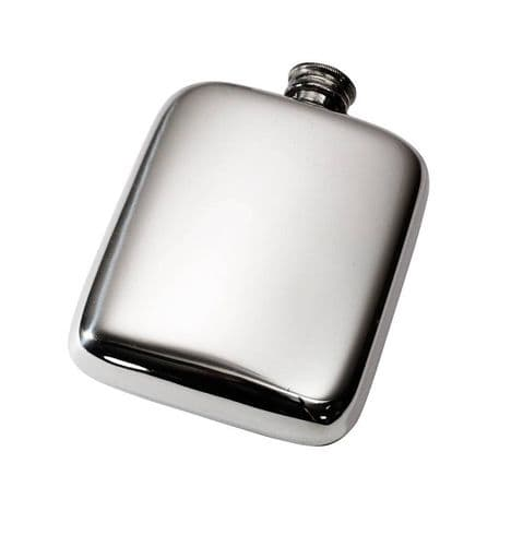 Pewter Pocket Hip Flask with Screw Top - 4oz