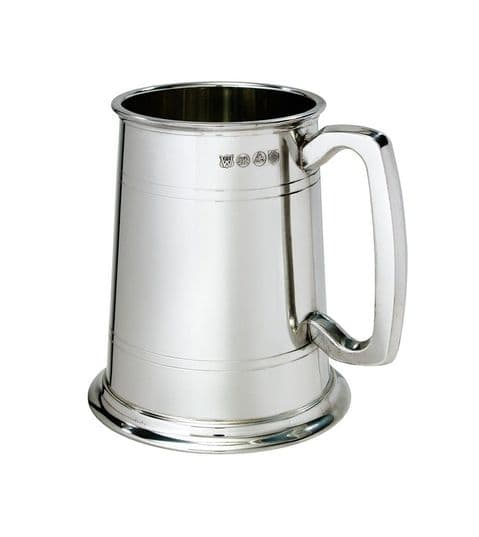 Regular Double Lined Metal Bottom Pewter Tankard