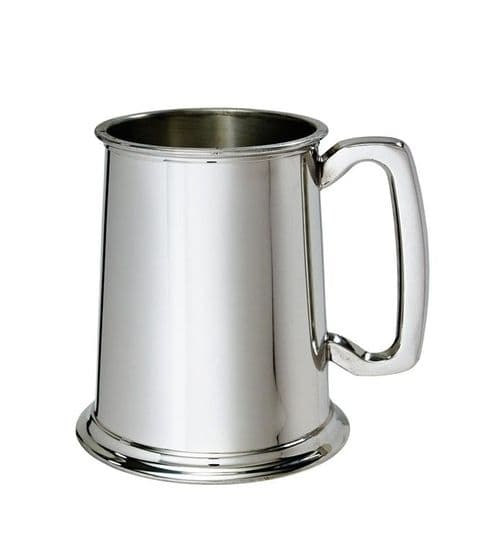 Regular Plain Polished Pewter Tankard