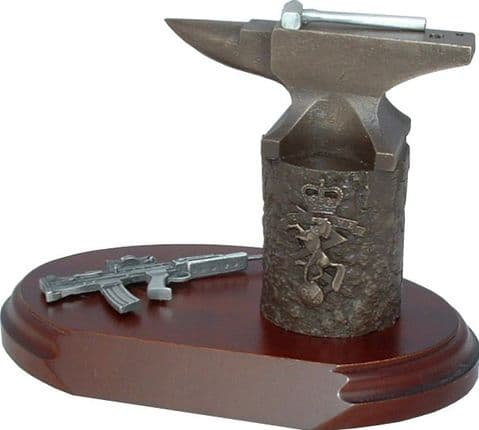 REME Anvil and SA80 Statuette