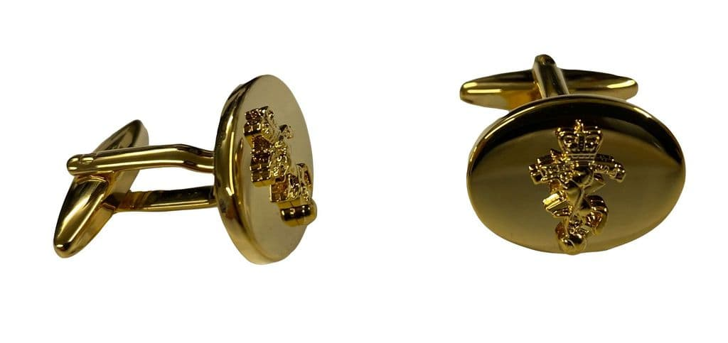 Royal Electrical and Mechanical Engineers (REME) Gold Plated Cufflinks