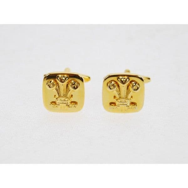 Royal Regiment of Wales Gold Plated Cufflinks