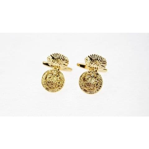 Royal Welch Fusiliers Gold Plated Cufflinks