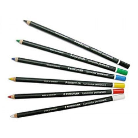 Staedtler Lumocolor Permanent Glasochrom (Chinagraph) Pencils (12 Pack)