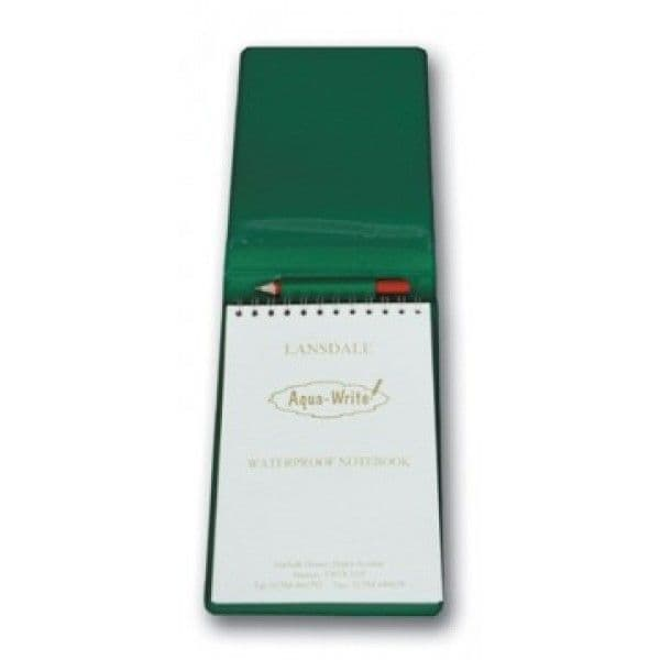 Waterproof Notebook in A6 Floppy Cover with Pencil - Green