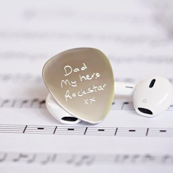 Personalised Guitar Pick | Engraved Own Handwriting | UK Delivery