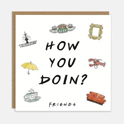 Friends TV Show - How You Doin Card