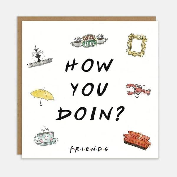 Friends TV Show | How You Doin Card | UK Delivery