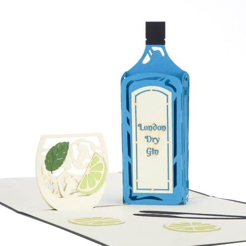 Gin and Glass Pop-Up Card