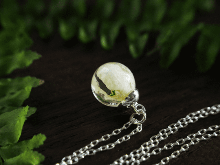 Real Snowdrop Necklace on Sterling Silver Chain