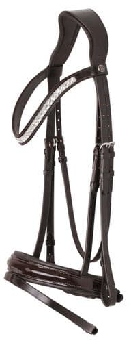 Azzaro Bridle Black/White/Patent