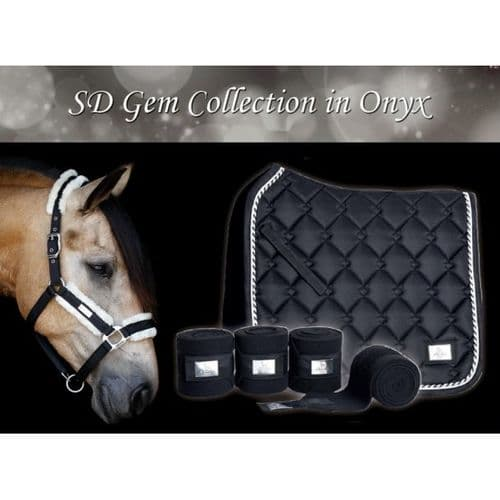 Gem Collection Fleece Bandages in Onyx.