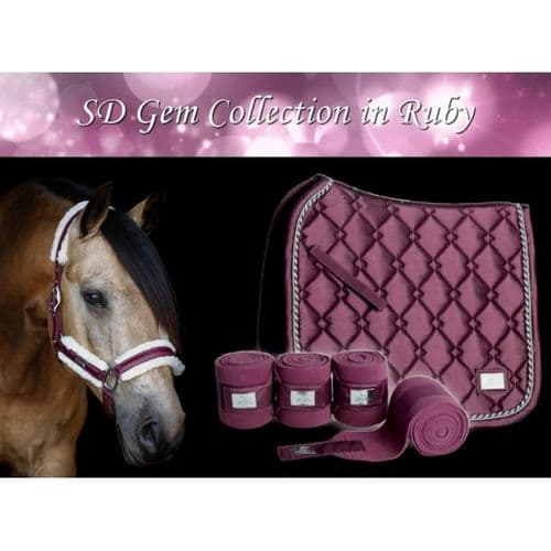 Gem Collection Fleece Bandages in Ruby.