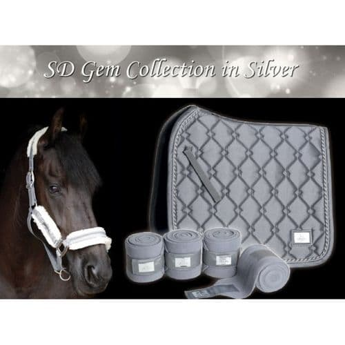 Gem Collection Fleece Bandages in Silver.