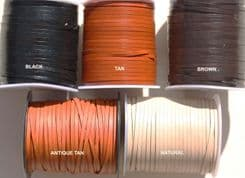 Flat Leather 3MM from 0.64p metre