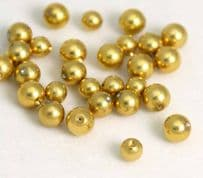 Gold Plated Clip In Balls Packs x 5