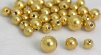 Gold Plated Threaded Balls  Packs x 5