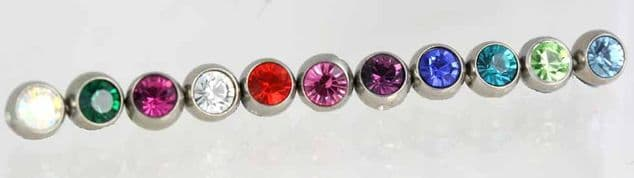 Spare Threaded  Gems  mixed size's
