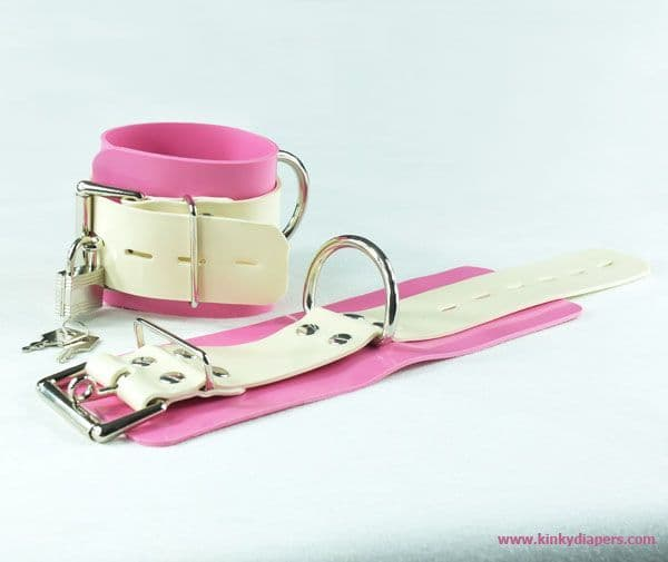 Locking Bondage Latex Restraints