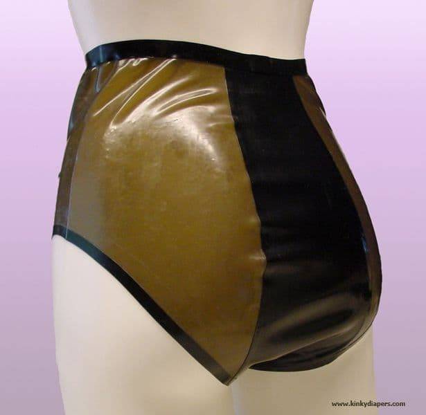 Retro 60's Sheer High Waist Latex Panties