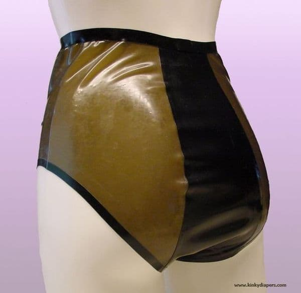 LATEX SHEER HIGH WAIST PANTY - KINKY DIAPERS