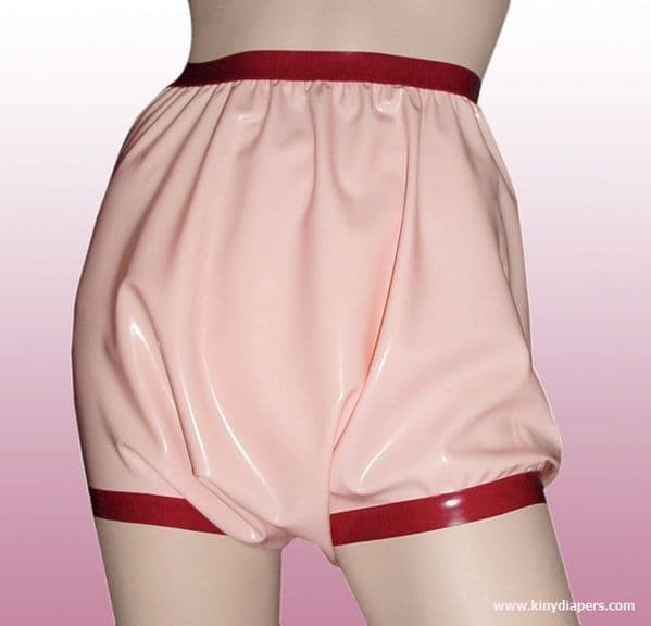 RUBBER PANTS WITH WIDE THIGH BANDS - KINKY DIAPERS