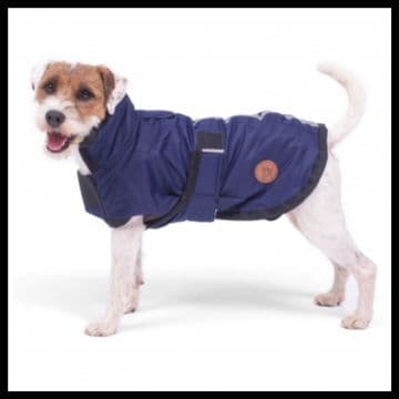 Petface Water Resistant NAVY BLUE Dog Coat 12""