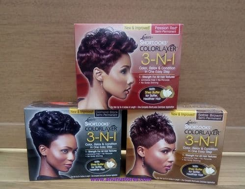 Lusters Shortlooks ColorLaxer 3-N-1 Hair Relaxer Kits -Colour, Relax & Condition