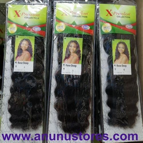 Xpression Rose Deep Wave Weave - 16 inches