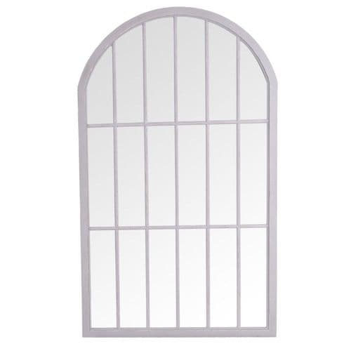 Mirrors Large Arched Window Mirror Grey