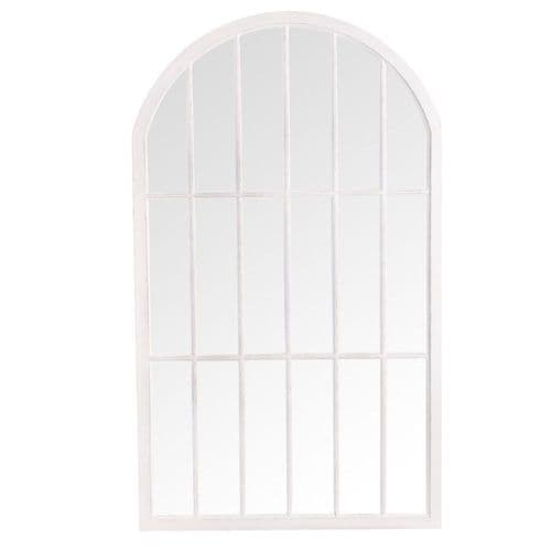Mirrors Large Arched Window Mirror White