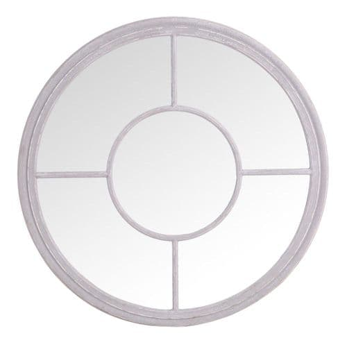 Mirrors Round Window Mirror Grey
