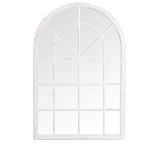 Mirrors Small Arched Window Mirror White
