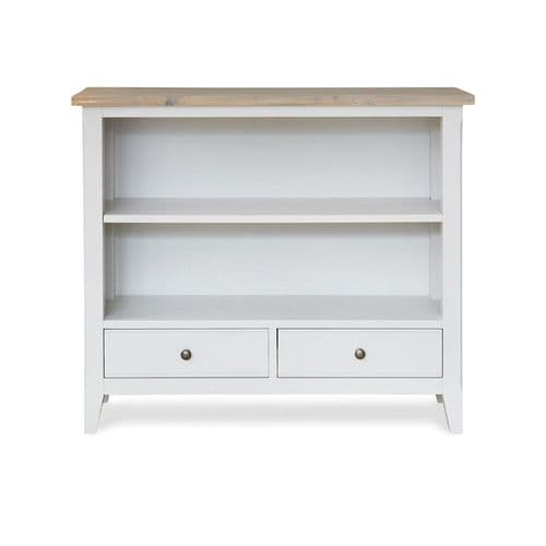New England Signature Grey Low Bookcase