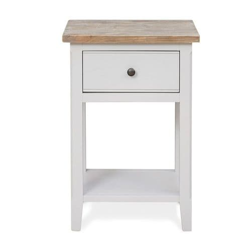 New England Signature Grey One Drawer Lamp Table