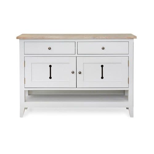 New England Signature Grey Small Sideboard / Hall Console Shoe Storage Table