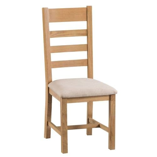 Oakham Country Ladder Back Chair Fabric Seat
