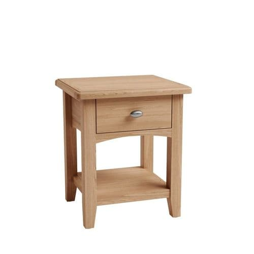 Glasgow 1 Drawer Lamp Table
