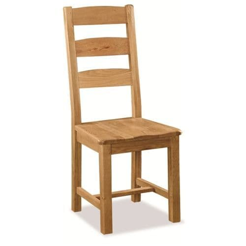 Stockton Slatted chair with wooden seat
