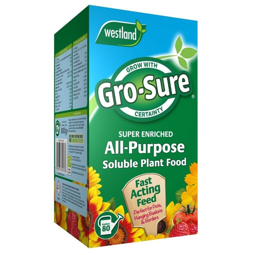 Westland Gro-Sure Soluble Plant Food 800g Box