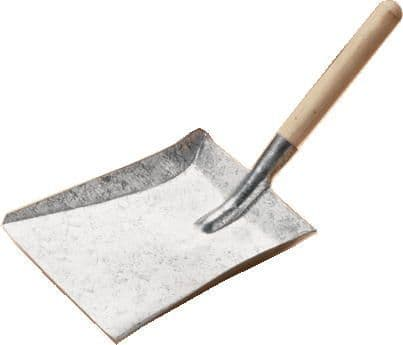 Galvanised Shovel with Wood Handle