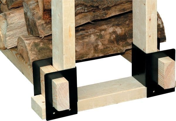 Log Rack Brackets - Outdoor Log Store | Thefiresideshop.co.uk