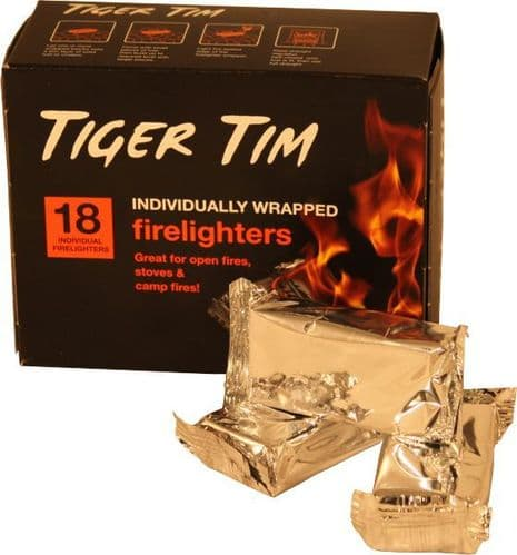 Tiger Tim Individually Wrapped Firelighter.
