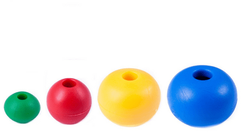 Rope Stoppers/Plastic Balls